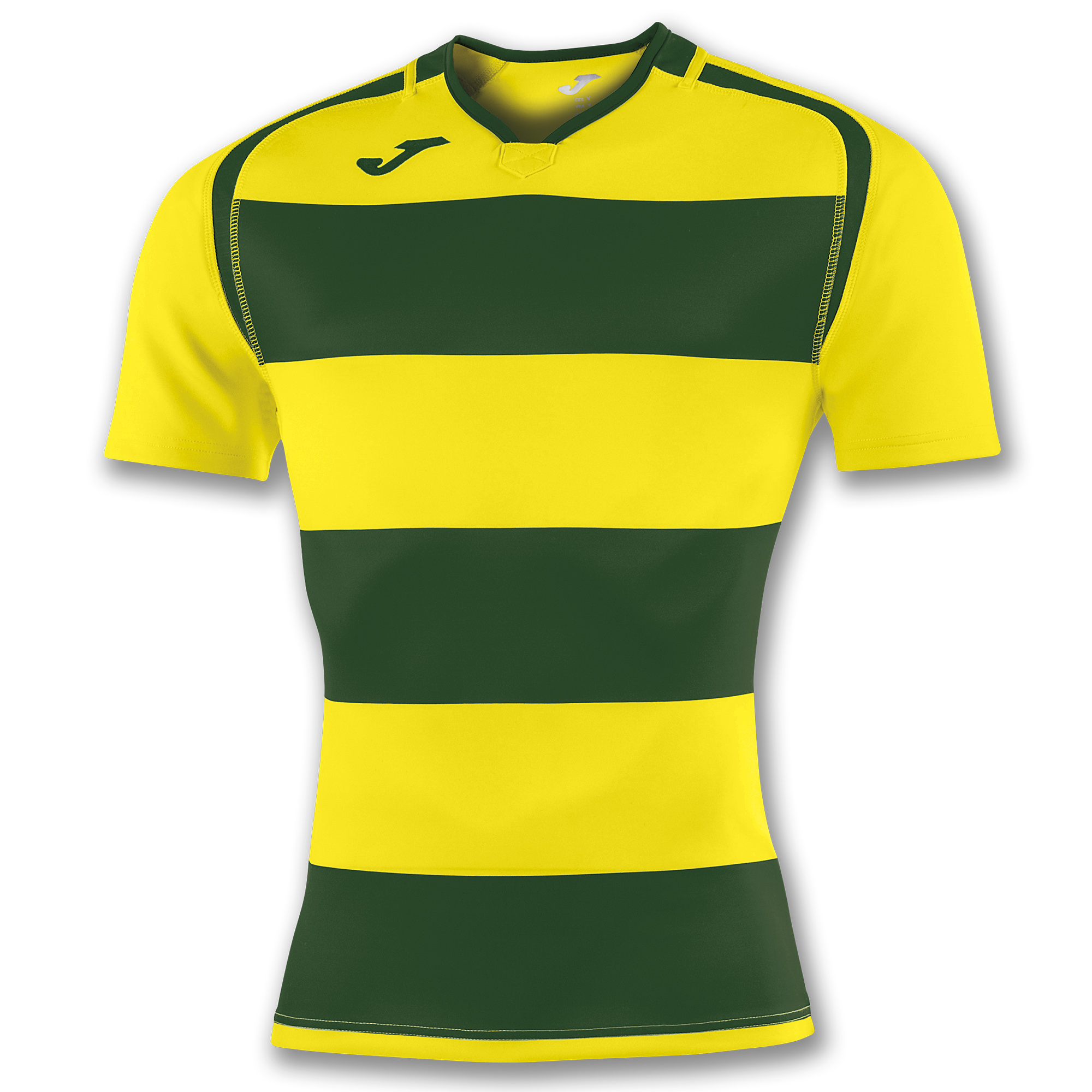 890fcb2b89d S/S T-SHIRT RUGBY GREEN-YELLOW | JOMA