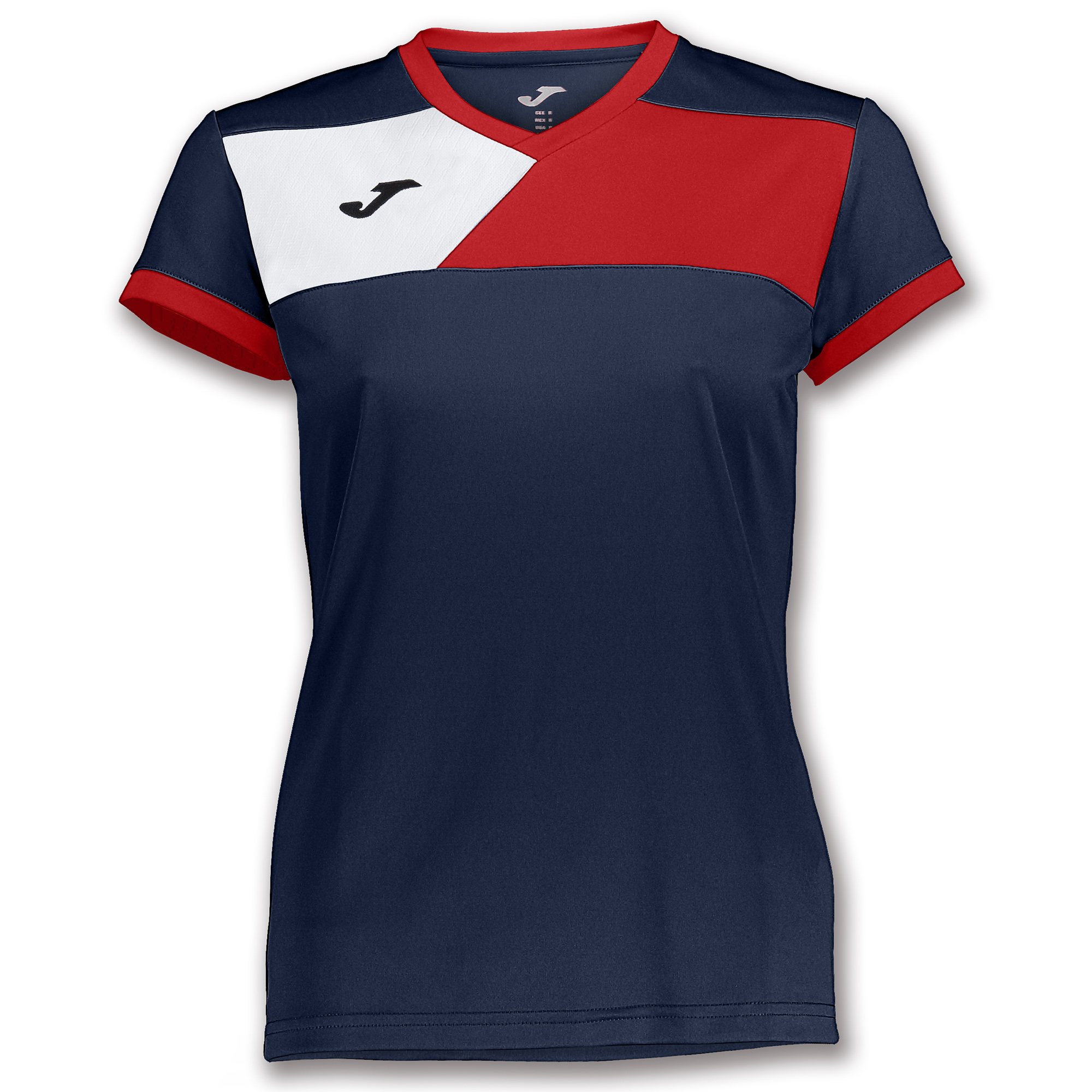 e9ed4ed5 S/S T-SHIRT CREW II NAVY BLUE-RED WOMEN | JOMA