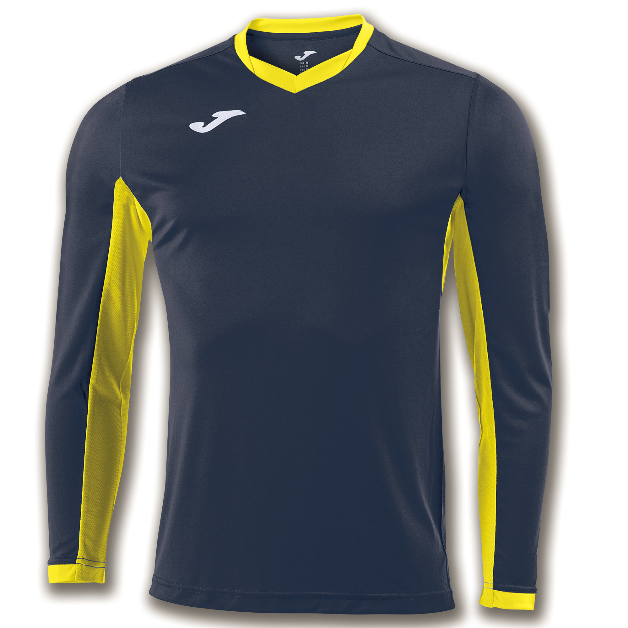 e34556a590f2 L/S T-SHIRT CHAMPION IV NAVY BLUE-YELLOW | JOMA