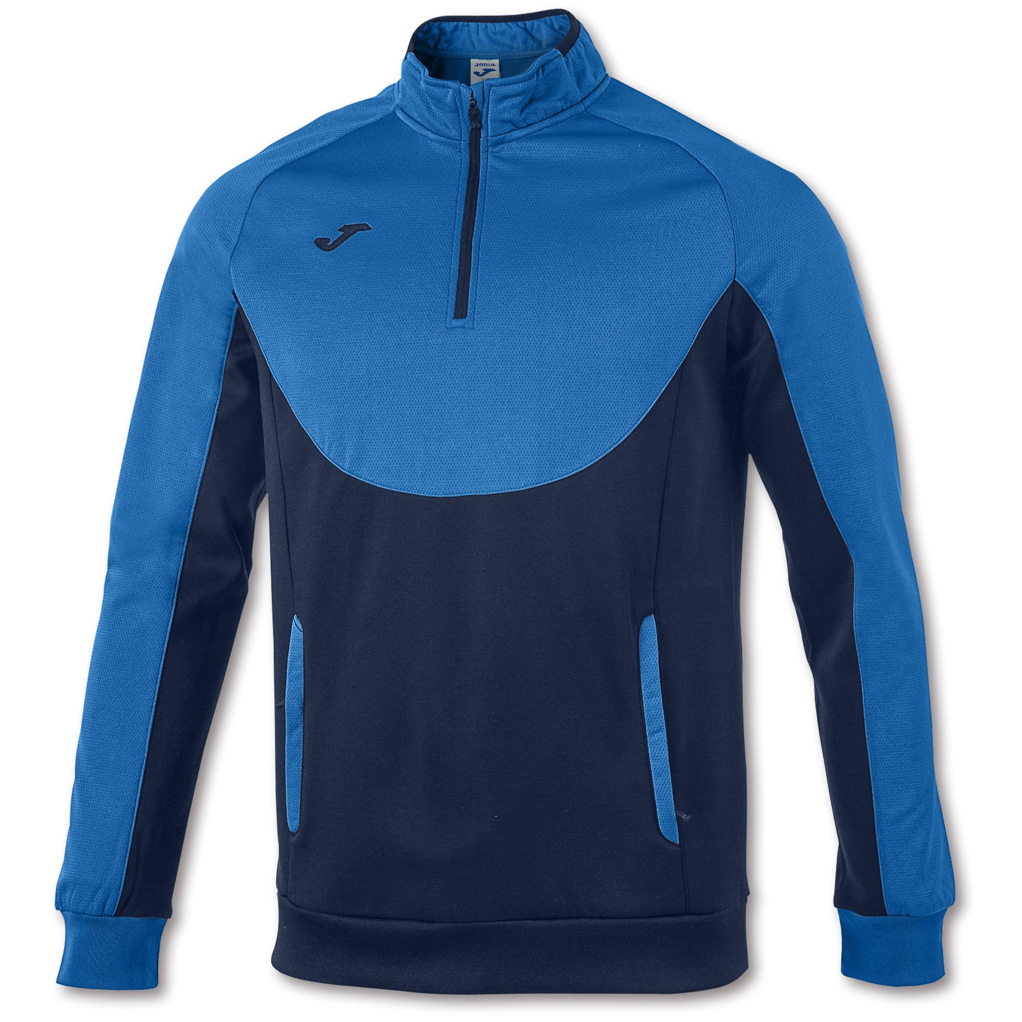 Sweatshirt With 12 Zip Essential Royal Blue Navy Blue Joma