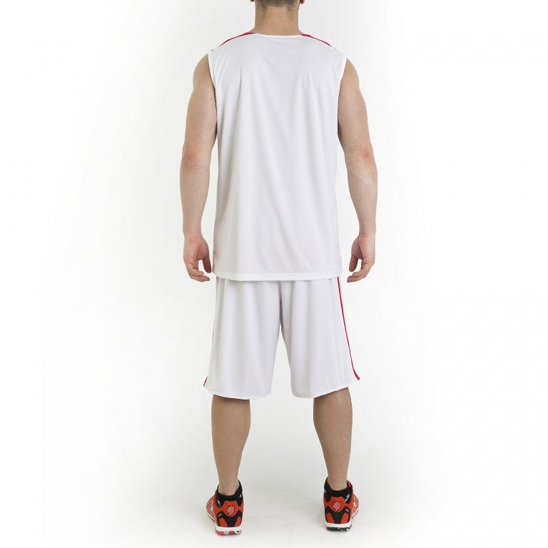 Joma Short de Basket r/éversible Rookie pour Homme Rouge et Blanc
