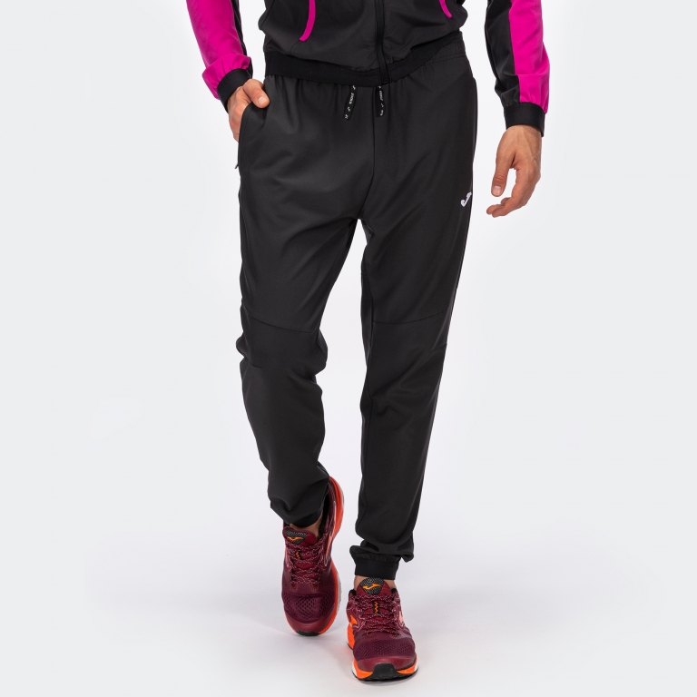 Ch/ándal Multicolor Negro-Rosa Hombre Joma Chandal Essential Micro